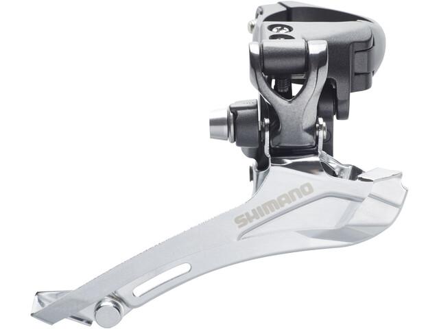 Shimano FD-CX70 Deragliatore 2x10 velocità fascetta Top-Pull, grey